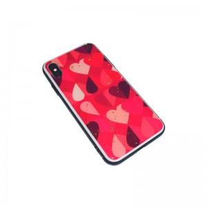 Чехол Силикон Glass Print - Heart
