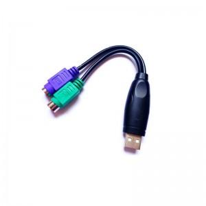 Переходник-кабель PS2 to USB для клавиатура+мышка