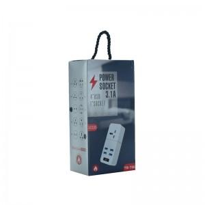 Сетевой удлинитель TB-T06 2m-4USB+1розетка
