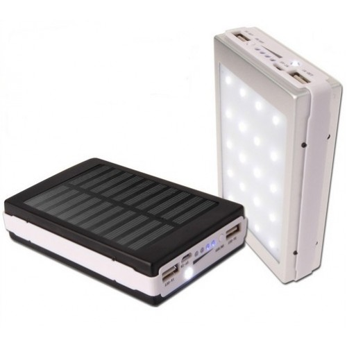 Аккумулятор внешний Power Bank Solar 25000mAh LED