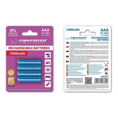 Аккумулятор Ni-MH AAA 1000 mAh, 4шт, EZA102B