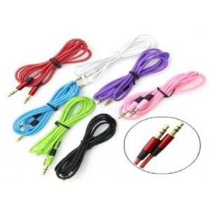 Аудио кабель для наушников 3.5mm-3.5mm пвх круглый 1 м