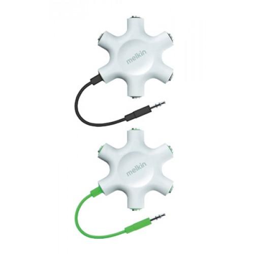 Аудио кабель разветвитель AUX 5 х 3.5 mm Melkin M022 Зеленый