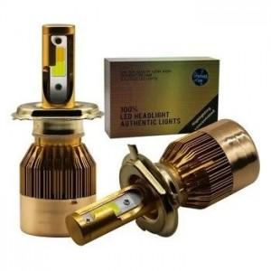 Автолампа LED C6 H7 золотая коробка