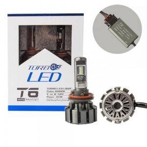 Автолампа LED T6 H11 TurboLed