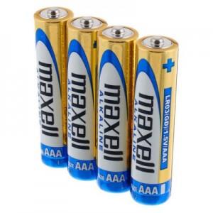 Батарейка MAXELL (Hitachi) Pack*4 Alkaline LR03/AAA (цена за упаковку 4 шт.)