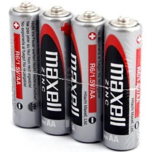 Батарейка MAXELL (Hitachi) Pack*4 Mn/Zn R6/AA (цена за упаковку 4шт)