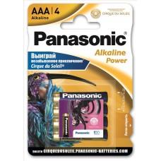Батарейка Panasonic ALKALINE POWER AAA BLI 4 Sticker Cirque du Soleil