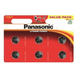 Батарейка Panasonic CR 2025 BLI 6 LITHIUM