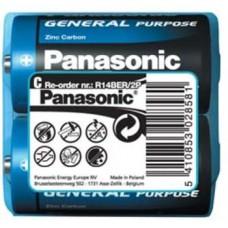 Батарейка Panasonic GENERAL PURPOSE R14 TRAY 2 ZINK-CARBON