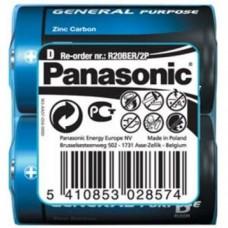 Батарейка Panasonic GENERAL PURPOSE R20 TRAY 2 ZINK-CARBON