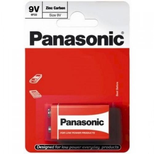 Батарейка Panasonic RED ZINK 6F22 BLI 1 ZINK-CARBON