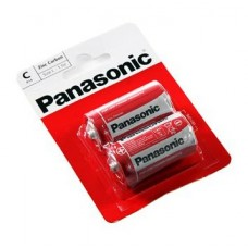 Батарейка Panasonic RED ZINK R14 BLI 2 ZINK-CARBON