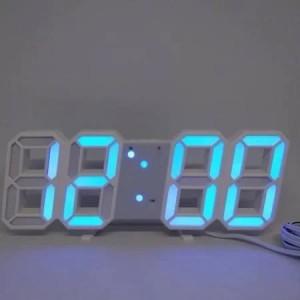 Электронные часы настольные LY 1089 синие