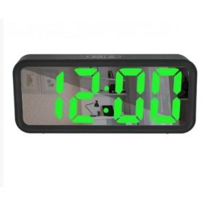 Електронний настільний годинник DT 6508 зелений