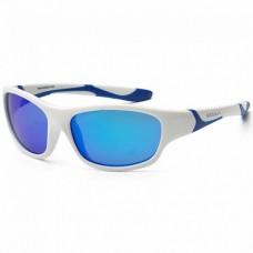 Детские солнцезащитные очки Koolsun бело-голубые серии Sport 6+