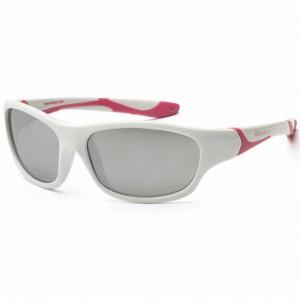 Детские солнцезащитные очки Koolsun бело-розовые серии Sport 6+