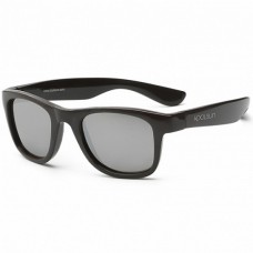 Детские солнцезащитные очки Koolsun черные серии Wave 1+