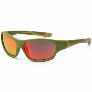 Детские солнцезащитные очки Koolsun цвета хаки серии Sport 3+