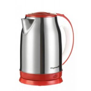 Чайник електричний нержавейка ViLgrand VS-18102 red (1.8 л; 2 кВт)