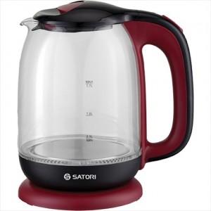 Чайник електричний Satori SGK-4180-RD 1,7 л, 1850-2200ВТ, диск, скло, підсвічування