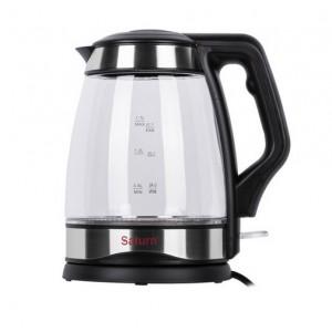 Чайник електричний ST-EK8428 Black 1,7л, потужність 2200 Вт, диск, скляний, підсвічування