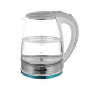 Чайник електричний ViLgrand VL1188GK white, скло, LED підсвітка (1,8 л; 1,8 кВт)