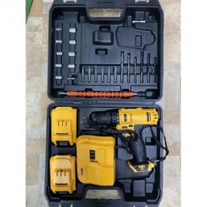 Набор инструментов с шуруповертом 64049, желтый