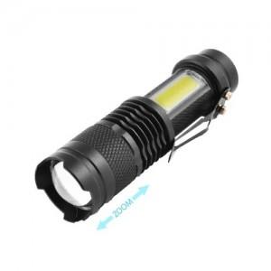 Фонарь Police 525/1812C-XPE+COB, ЗУ micro USB, встроенный аккумулятор, zoom, Box