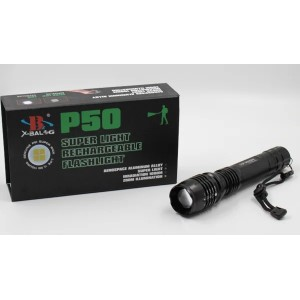 Фонарик BL P08 P50 2*18650 battery