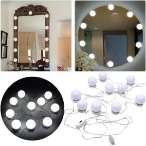 Led подсветка для зеркала VANITY MIRROR LIGHTS (Led лампочки 10 шт с регулировкой яркости)