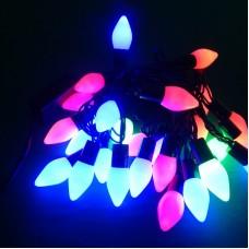 Гирлянда Конусы LED 28 мульти, чёрный провод