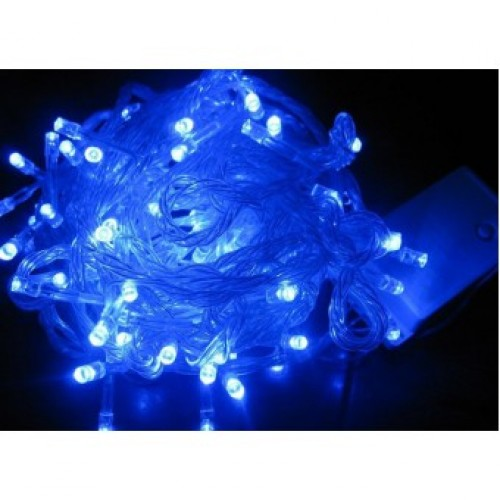 Гирлянда светодиодная 100 Led Синяя