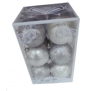 """Набор елочных игрушек """"Christmas ball"""", 7 см"""