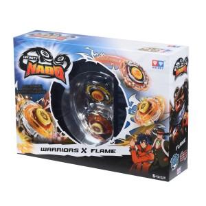 Волчок Auldey Infinity Nado Сплит Battle Buddha и Blast Flame с устройством запуска