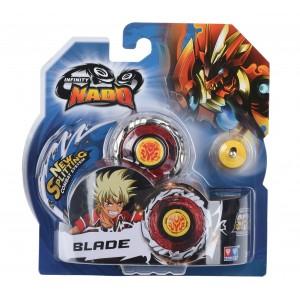 Волчок Auldey Infinity Nado Стандарт Fiery Blade с устройством запуска