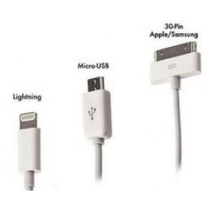 Кабель micro usb +apple  4 в 1 для iPhone5/iPhone4 и micro usb