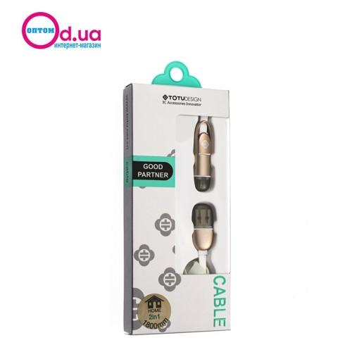 Кабель Micro USB/LightNinG 180cm TOTU GOOD PARTNER