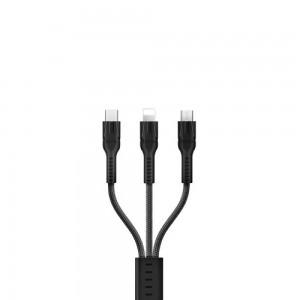 Кабель USB Hoco U31 Benay 3 in 1 Charging Black