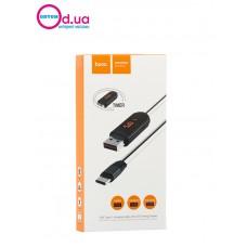Кабель Type-C USB LED HOCO U29