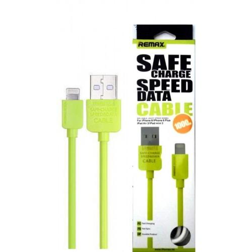 Кабель Apple Remax IPhone 6/plus/5/5S green