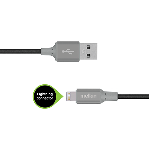 Кабель Apple usb Lightning Melkin M8J146 1,2 м Черный