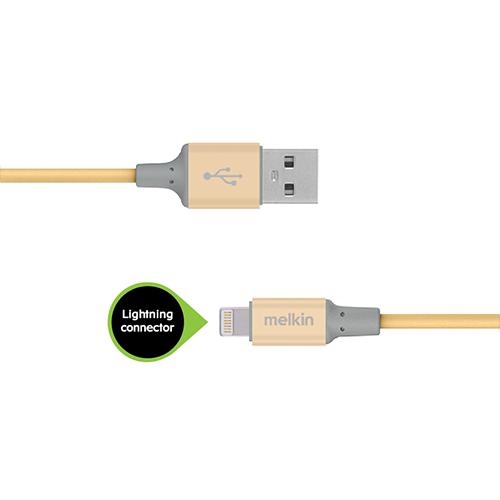 Кабель Apple usb Lightning Melkin M8J146 1,2 м Золотой