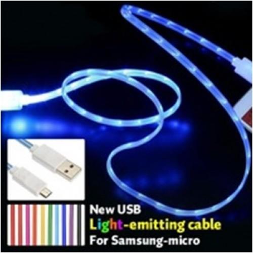 Кабель micro USB для зарядки с LED индикатором скорости заряда (цвета в ассортименте)