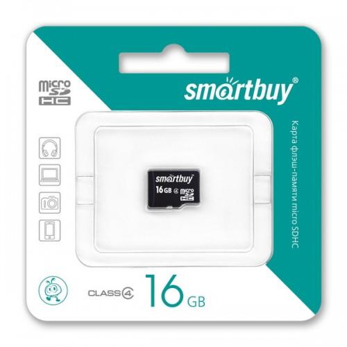 Карта памяти 16GB Smartbuy micro SDHC class 4 без адаптера