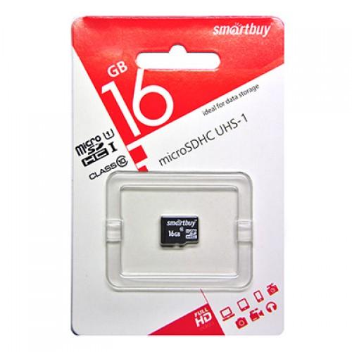 Карта памяти 16GB Smartbuy micro SDHC (UHS-1) class 10 без адаптера