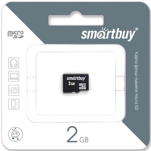 Карта памяти 2GB Smartbuy micro SD без адаптера