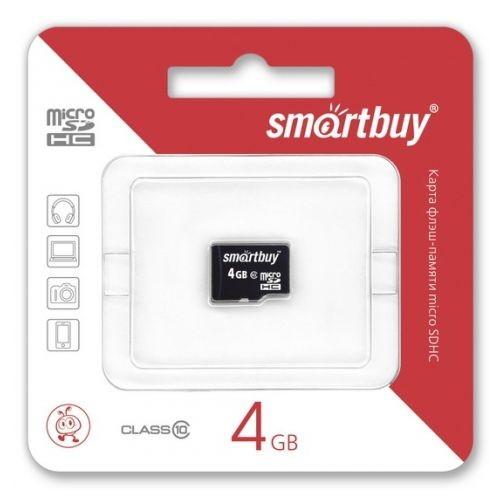 Карта памяти 4GB Smartbuy micro SDHC class 10 без адаптера