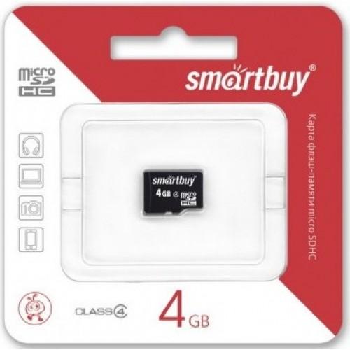 Карта памяти  4GB Smartbuy micro SDHC class 4 без адаптера