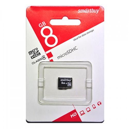 Карта памяти 8GB Smartbuy micro SDHC Сlass 4 (без адаптера)